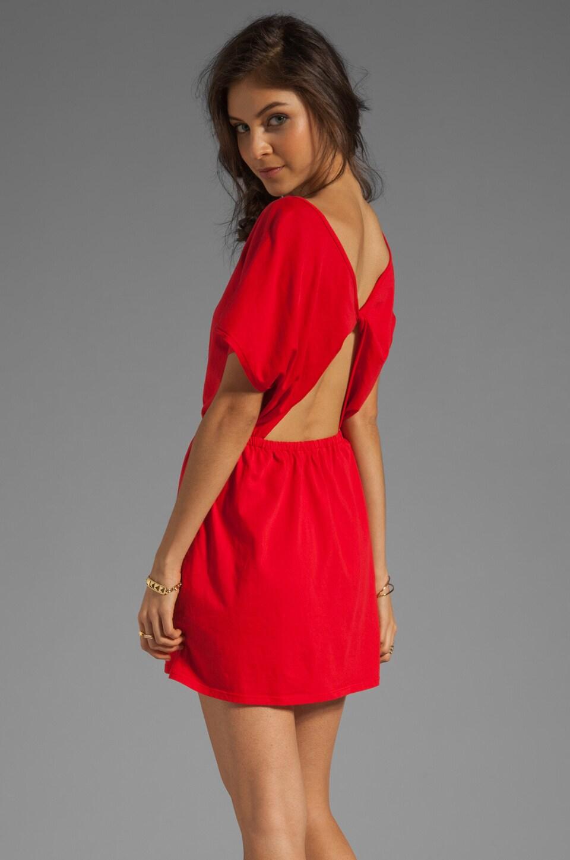 Bobi Supreme Jersey Open Back Mini Dress in Bali