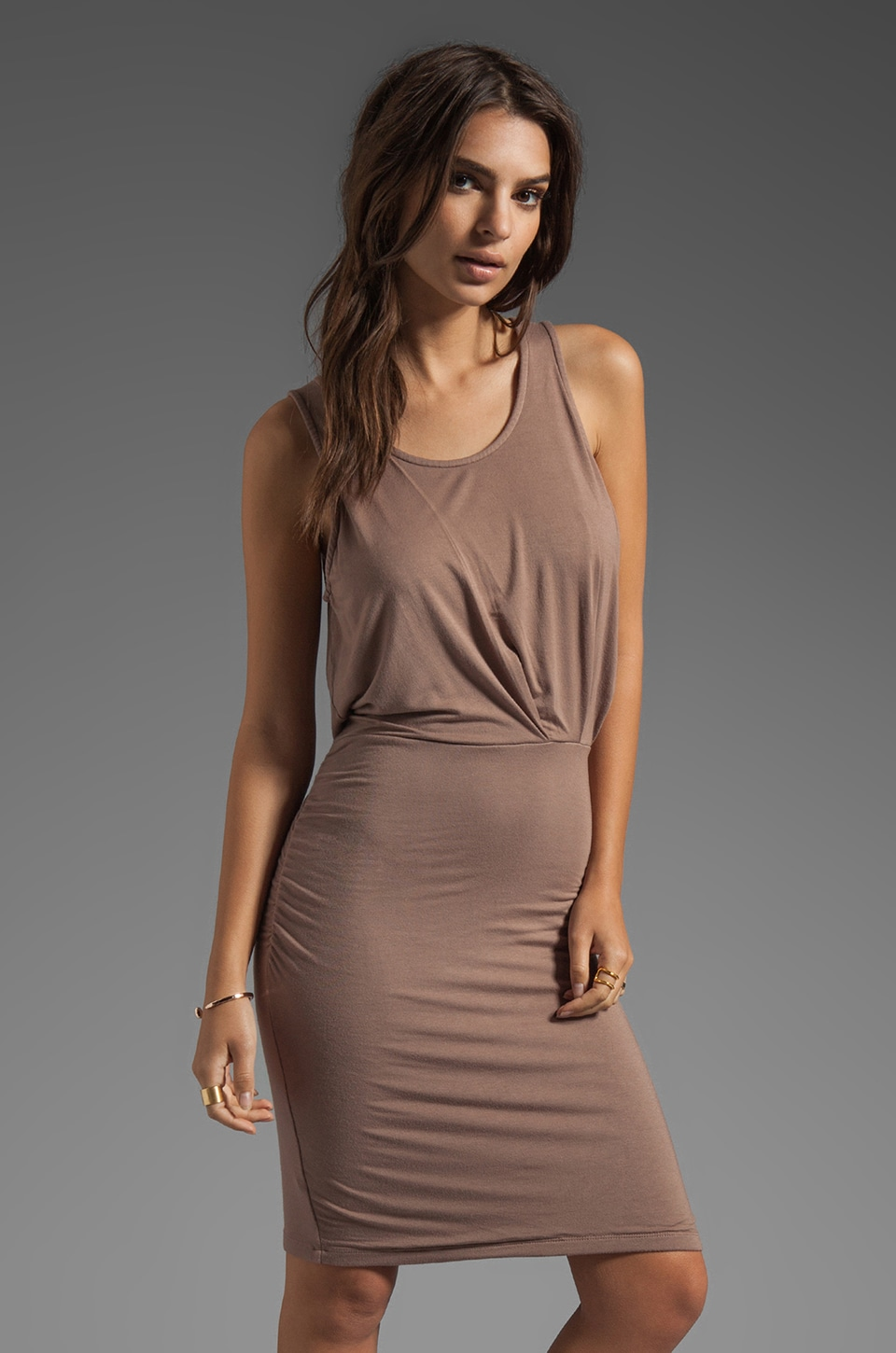 Bobi Jersey Tank Dress in Java