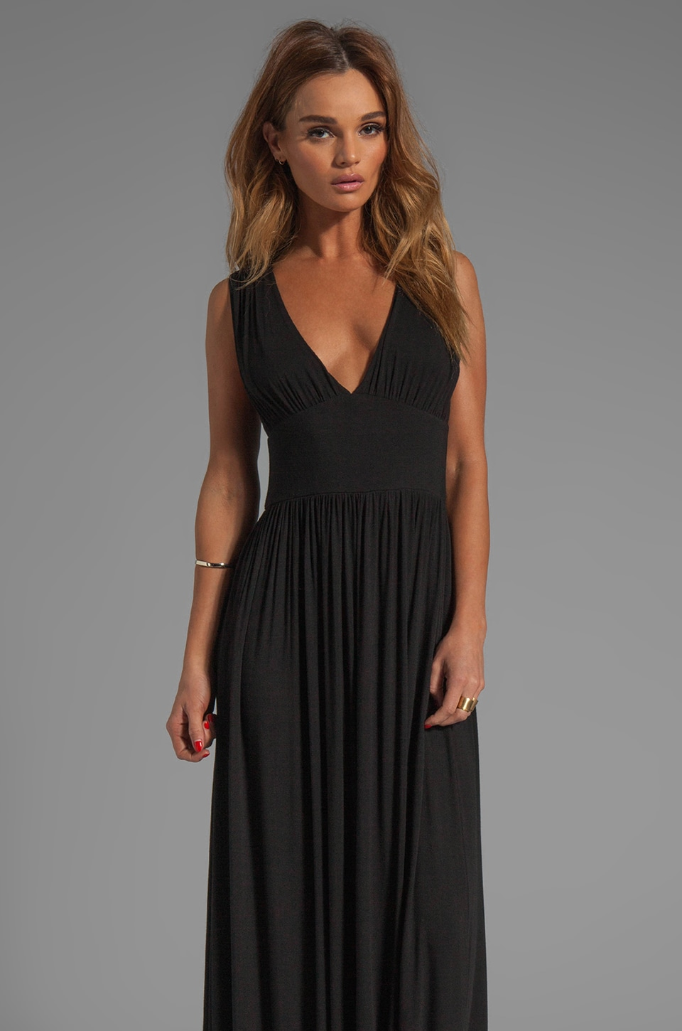 Bobi Jersey Maxi Dress in Black