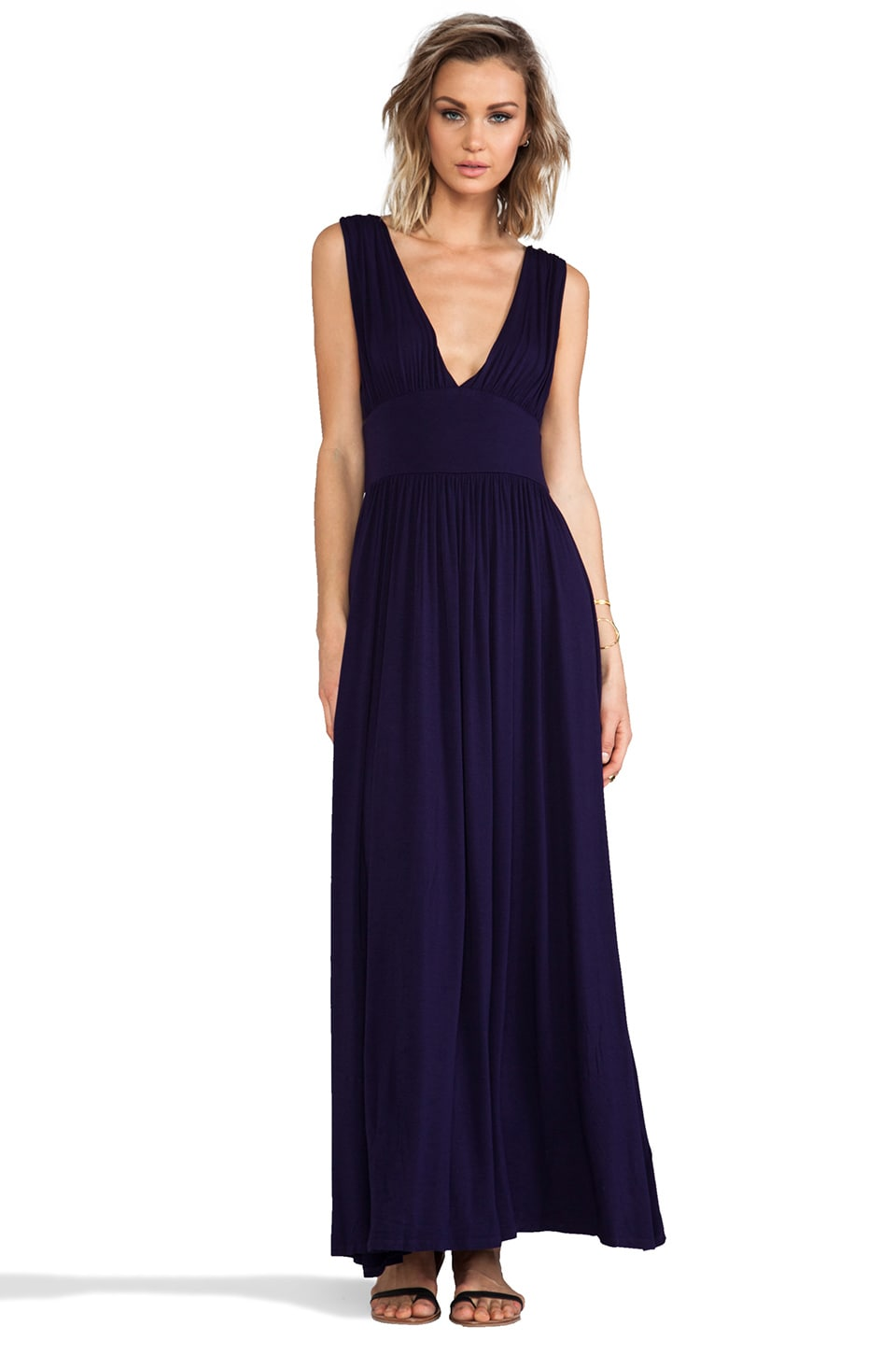 Bobi Jersey Maxi Dress in Yacht