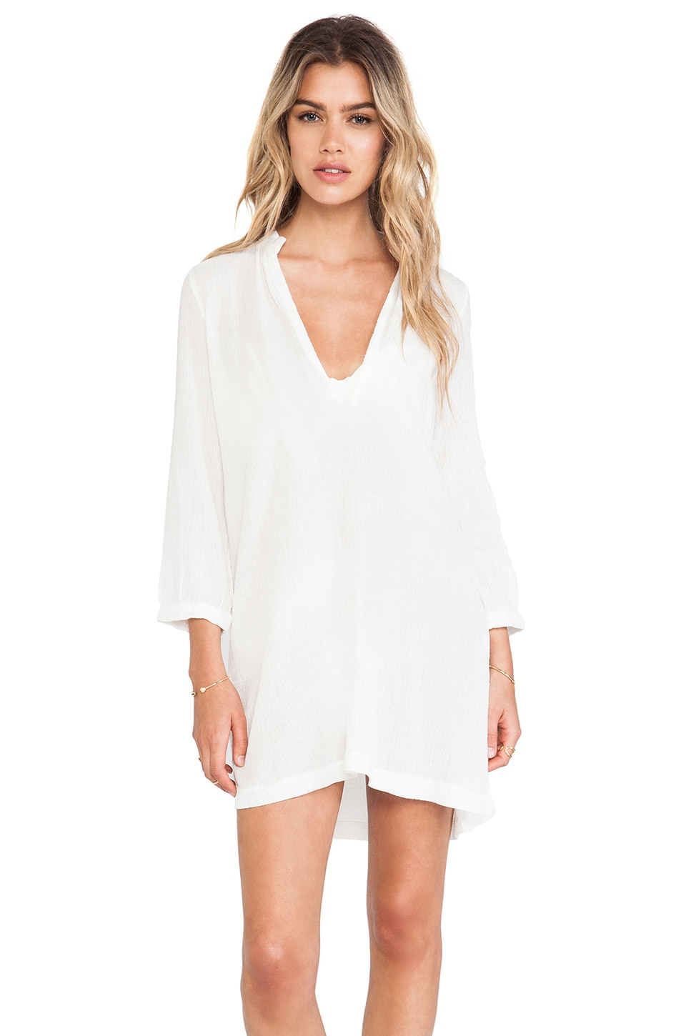 Bobi Gauze Tunic in Light
