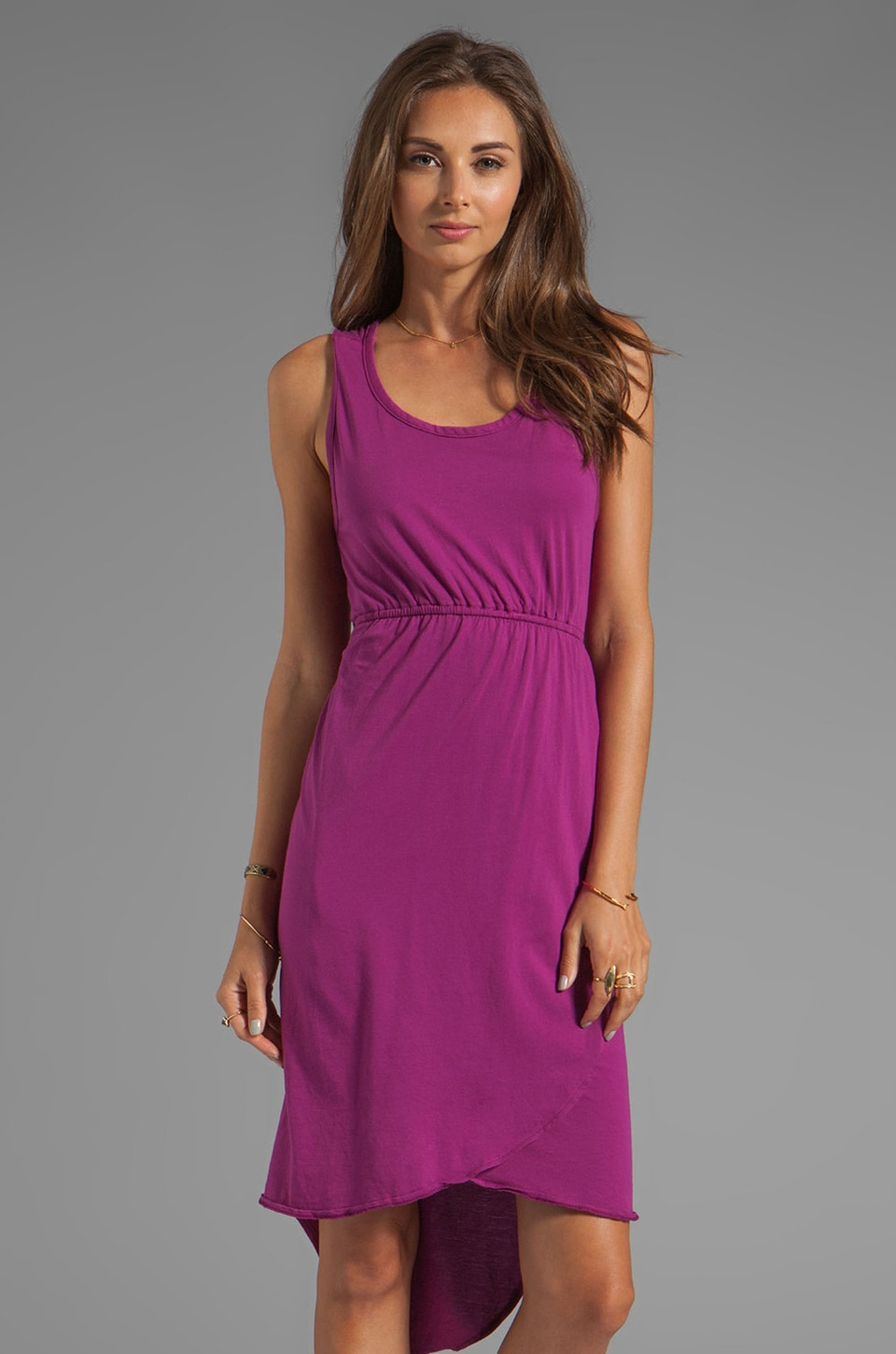 Bobi Supreme Jersey Asymmetric Hem Dress in Maui Wowi