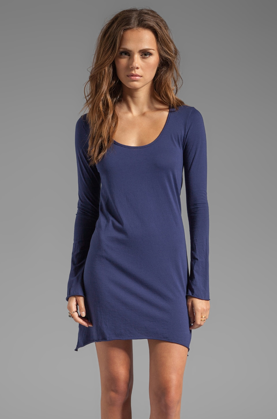 Bobi Supreme Jersey Long Sleeve Dress in Rider