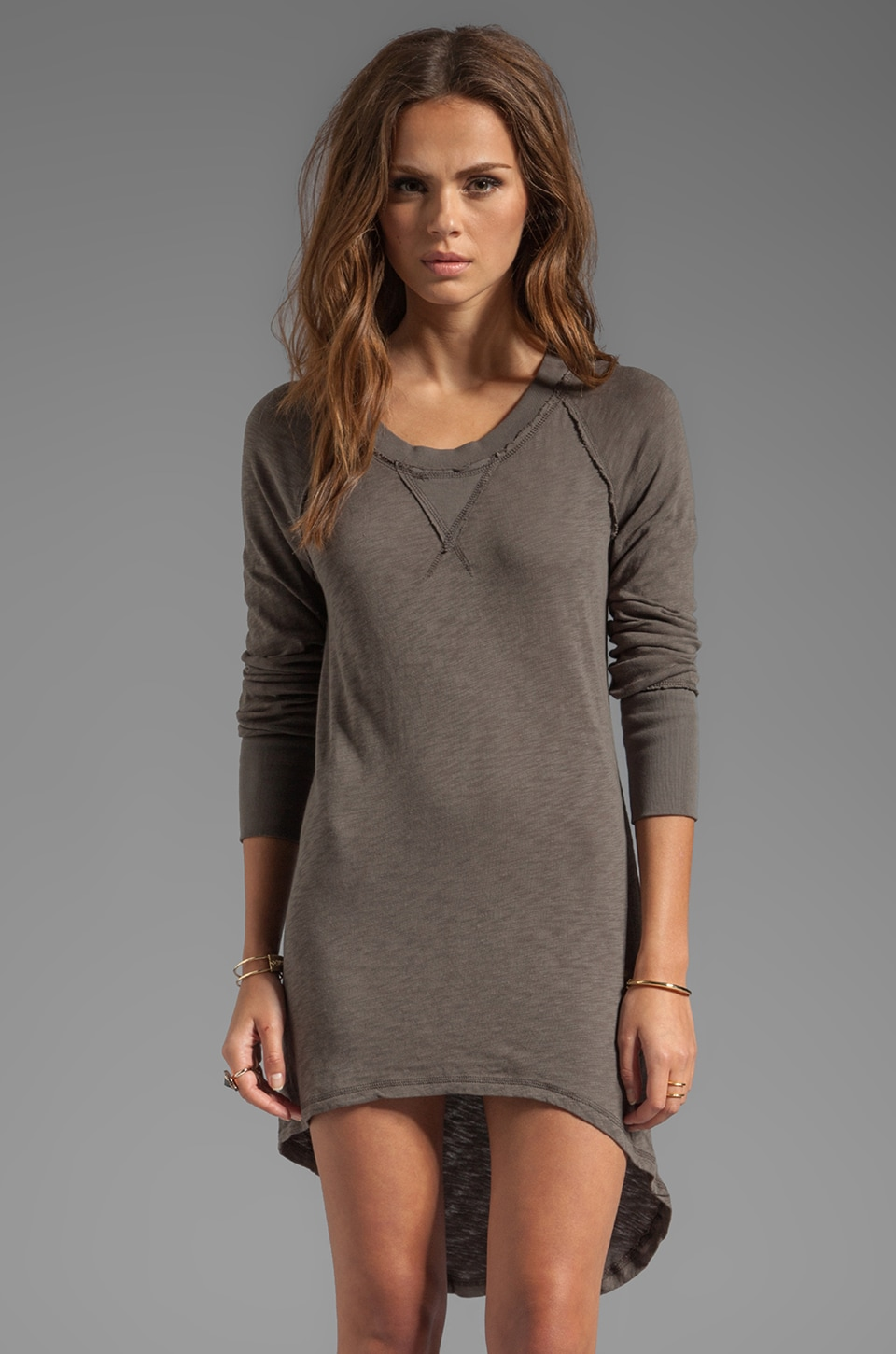 Bobi Long Sleeve Mini Dress in Mountain