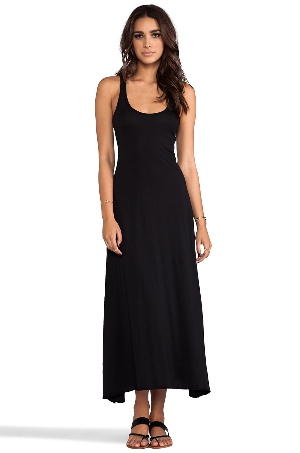 Bobi Supreme Maxi Tank Dress in Black