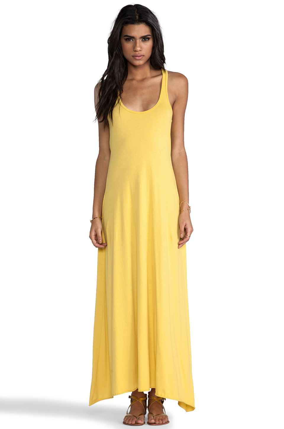 Bobi Supreme Maxi Tank Dress in Sunshine