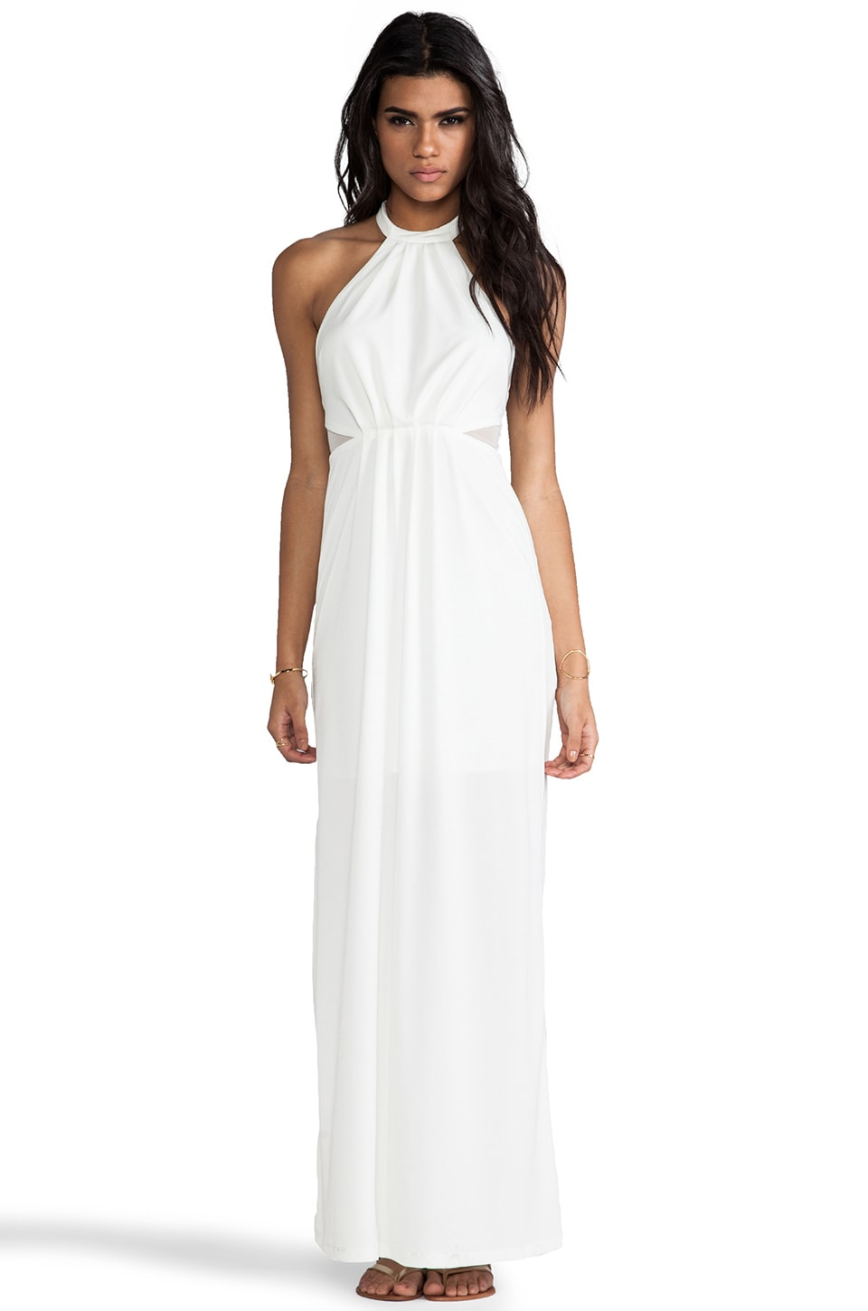 Bobi BLACK LABEL Maxi Halter Dress in Ivory