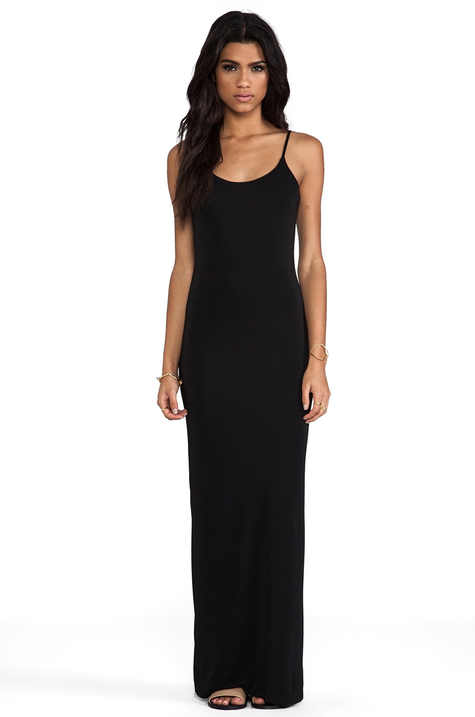 Bobi BLACK LABEL Maxi Tank Dress in Black