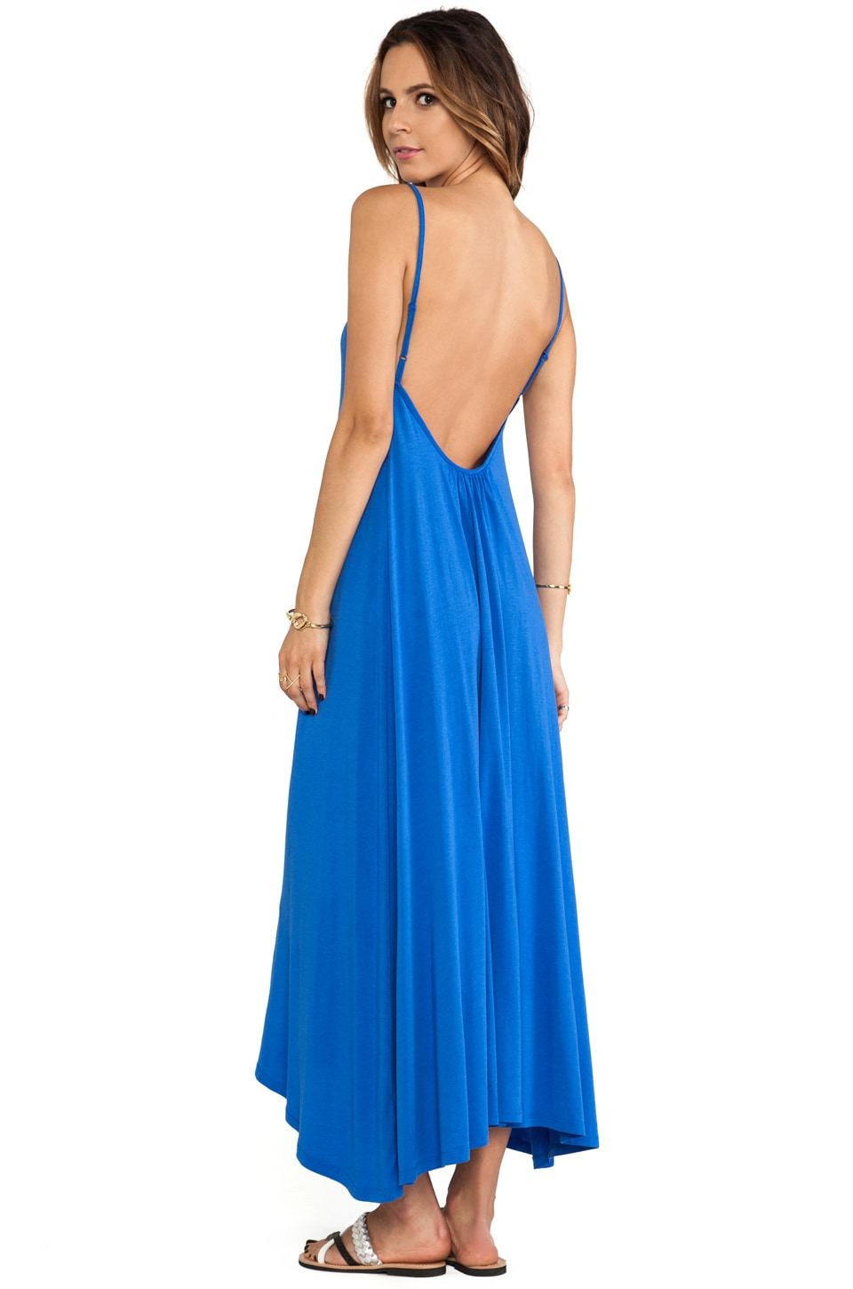 Bobi Low Back Maxi Dress in Nitrogen