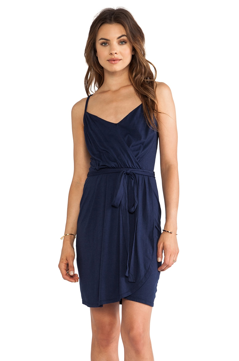 Bobi Jersey Wrap Dress in Marina