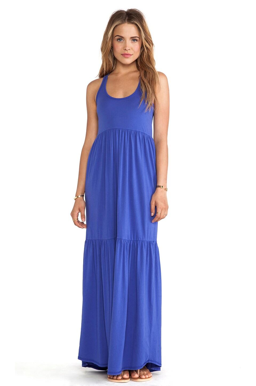 Bobi Supreme Jersey Tank Maxi Dress in Ultra Blue