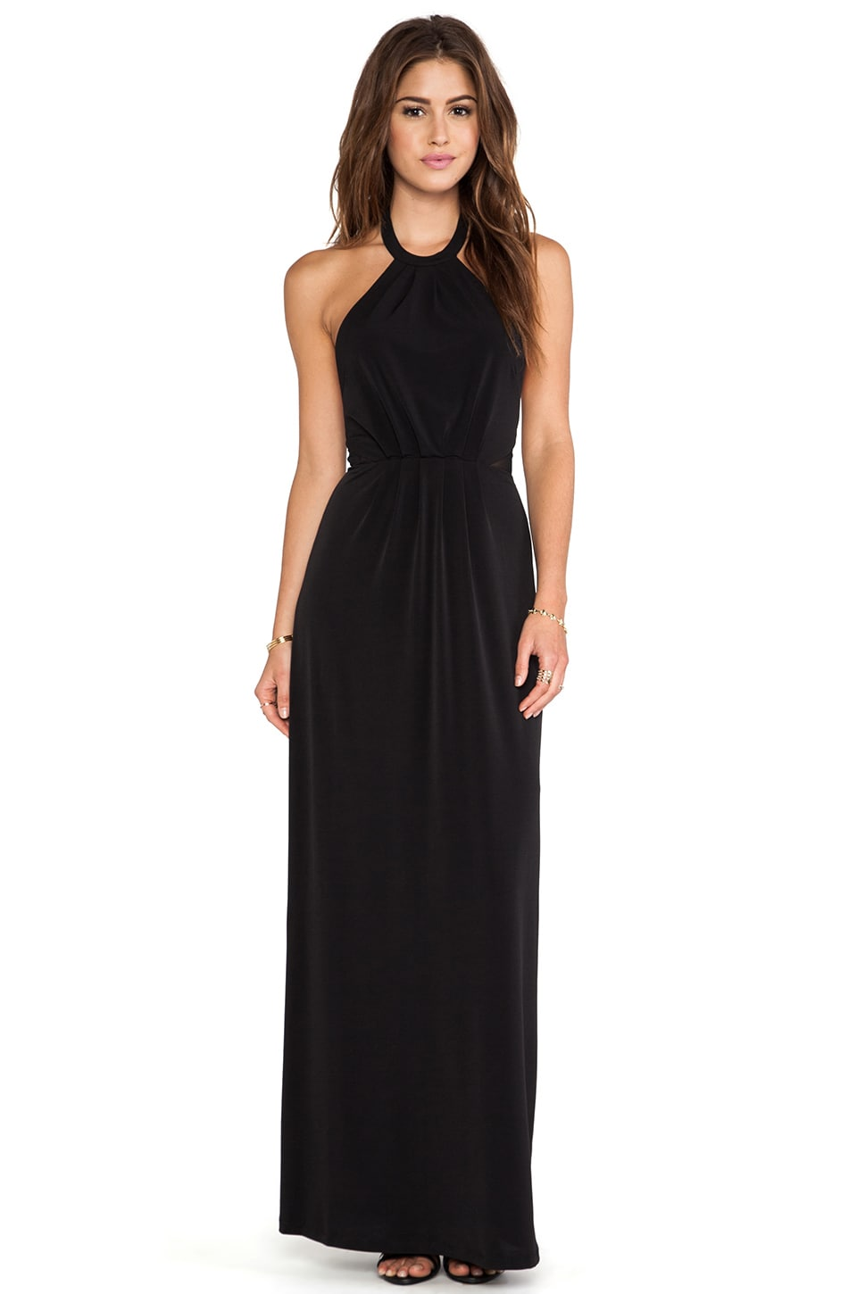 Bobi BLACK LABEL Maxi Halter Dress in Black
