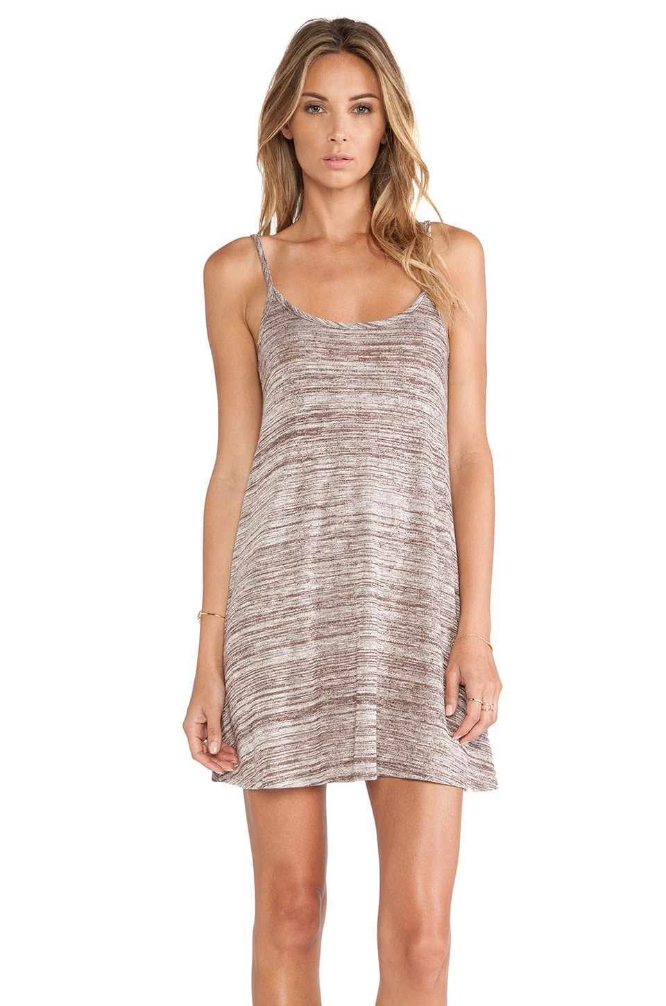 Bobi Space Dye Tank Dress in Acorn