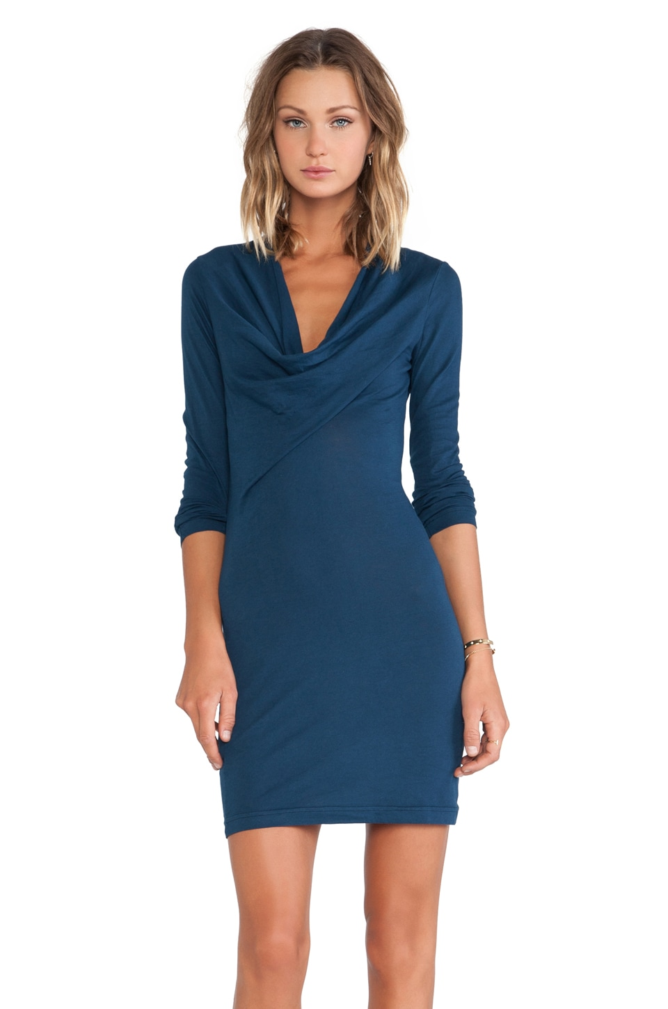 Bobi Jersey Mini Dress in Nirvana