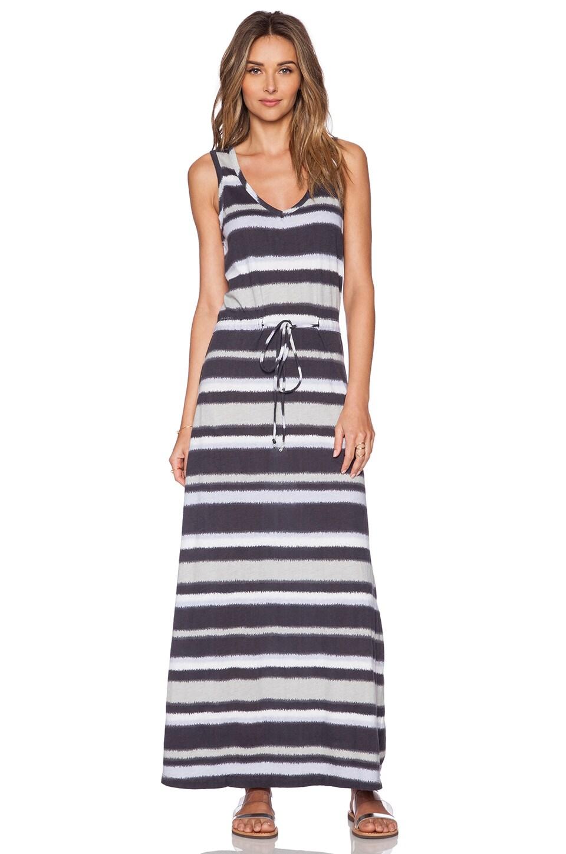 Bobi Boho Stripe Maxi Dress in Storm