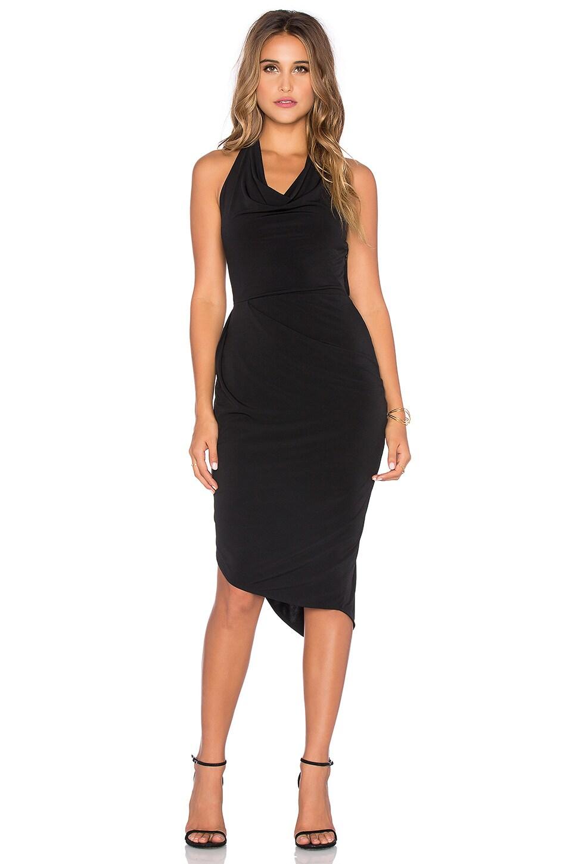 Bobi BLACK Liquid Jersey Halter Mini Dress in Black