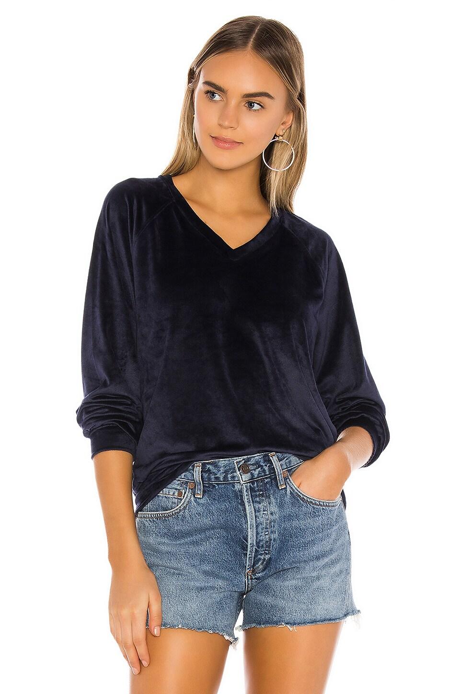Bobi Plush Knit Pullover in Midnight