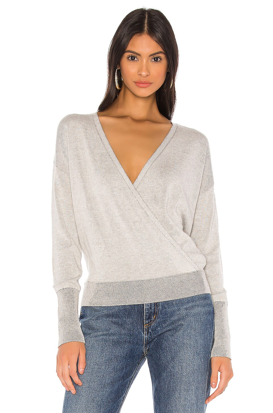 Bobi BLACK Fine Viscose Sweater in Grey
