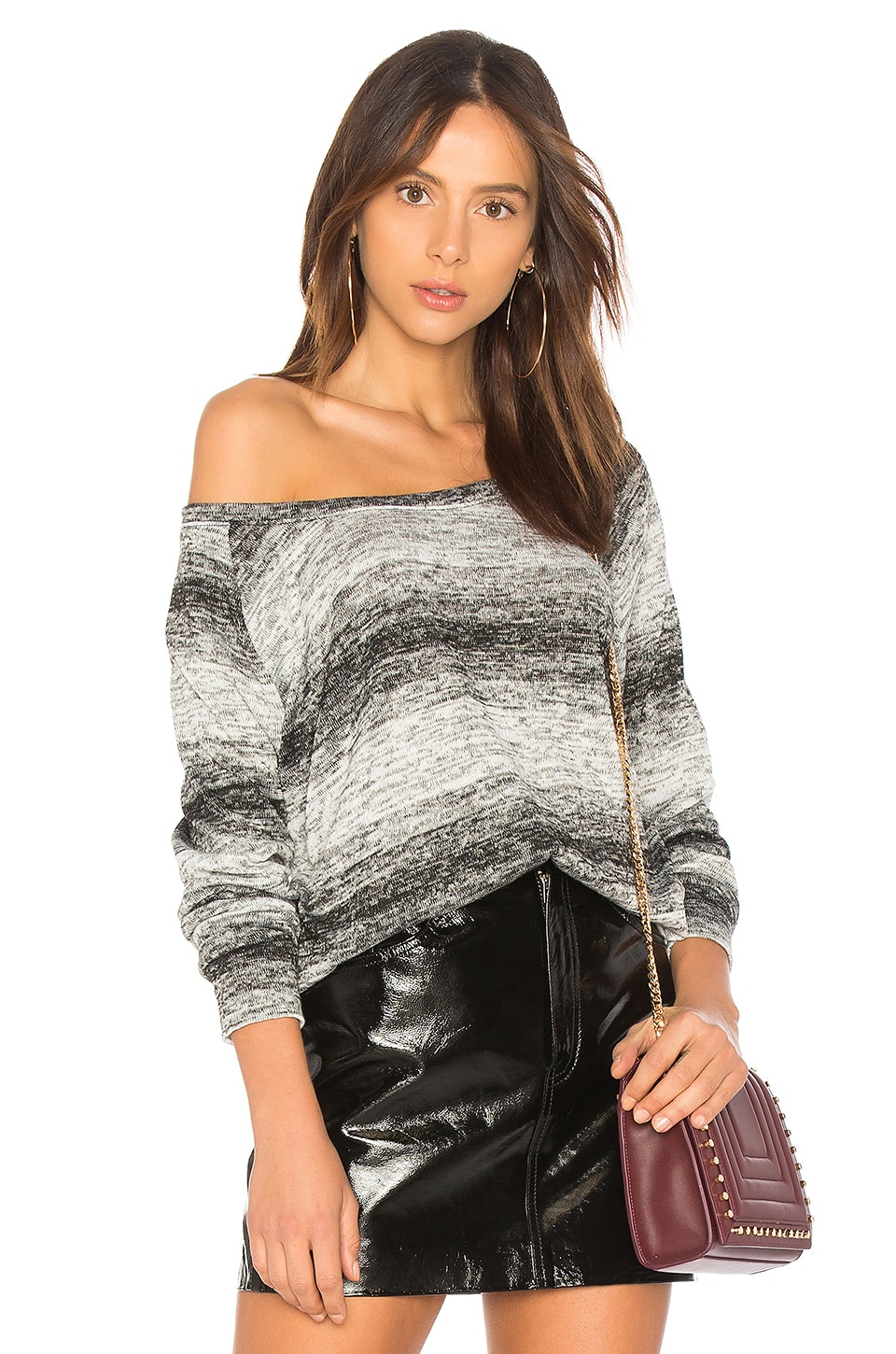 Bobi Ombre Sweater in Black