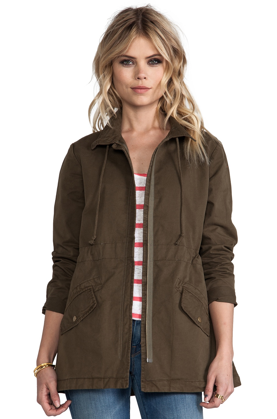 Bobi Military Jacket in Army Green