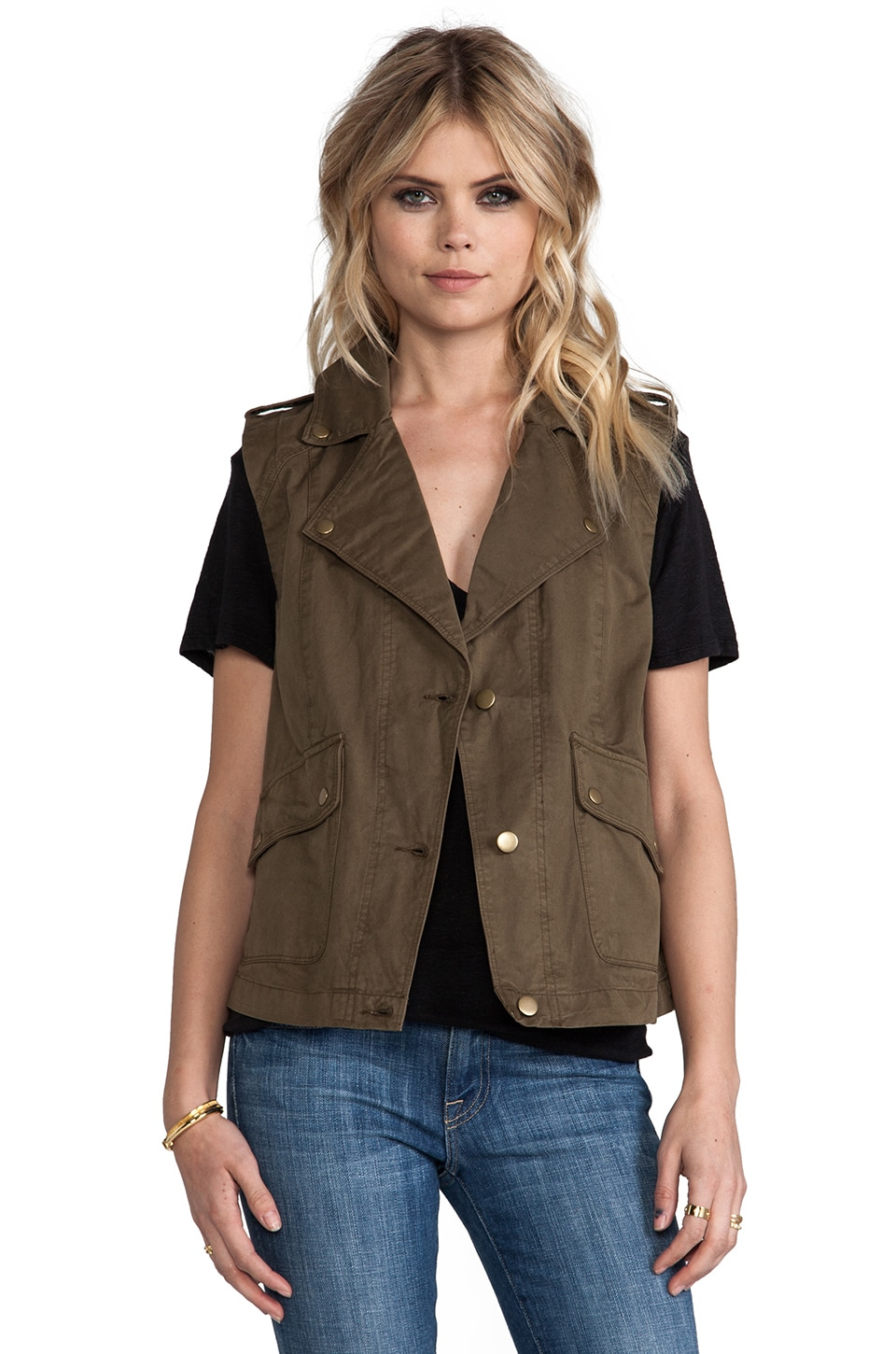 Bobi Military Vest in Army Green