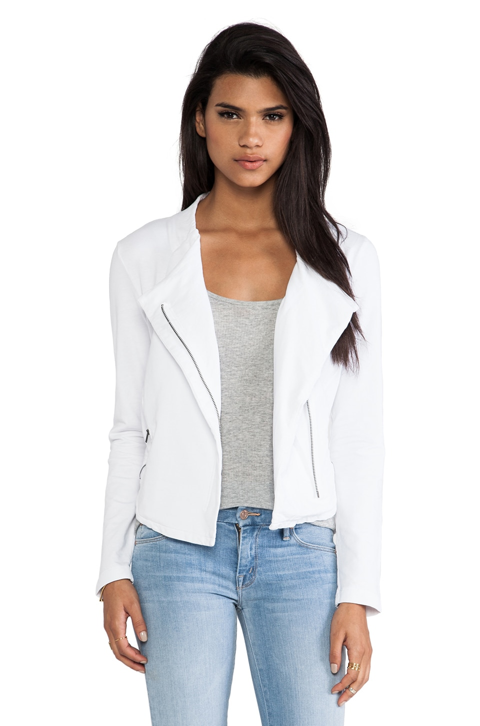 Bobi Moto Jacket in White