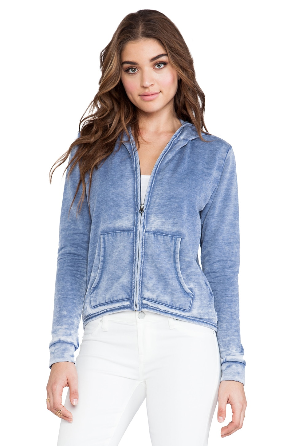 Bobi Enzyme Washed Sweatshirt in Blue