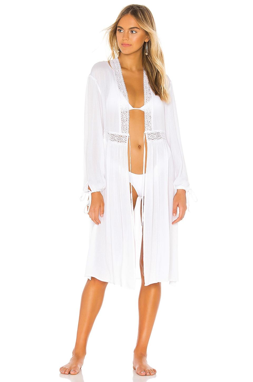 Bobi BLACK Luxe Gauze Kimono in White