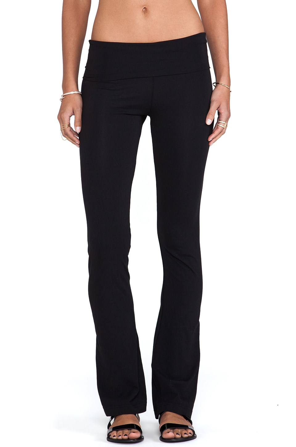 Bobi Flare Yoga Pant in Black