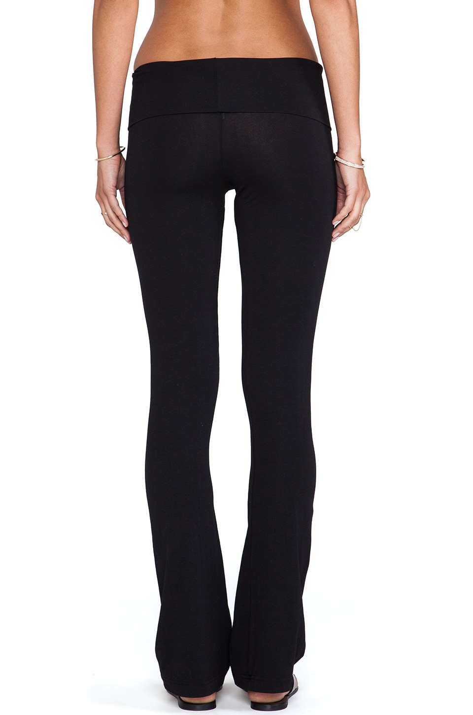 Bobi Flare Yoga Pant in Black | REVOLVE