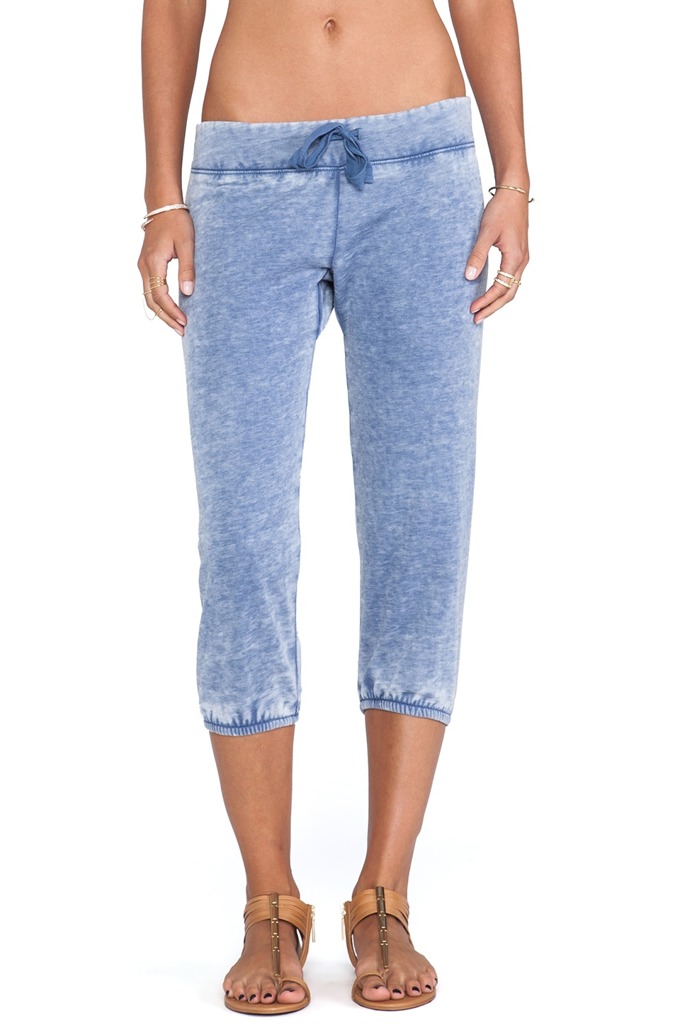Bobi Enzyme Washed Sweatpants in Blue