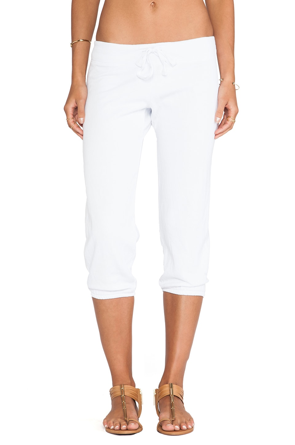 Bobi Enzyme Wash Sweatpant in White