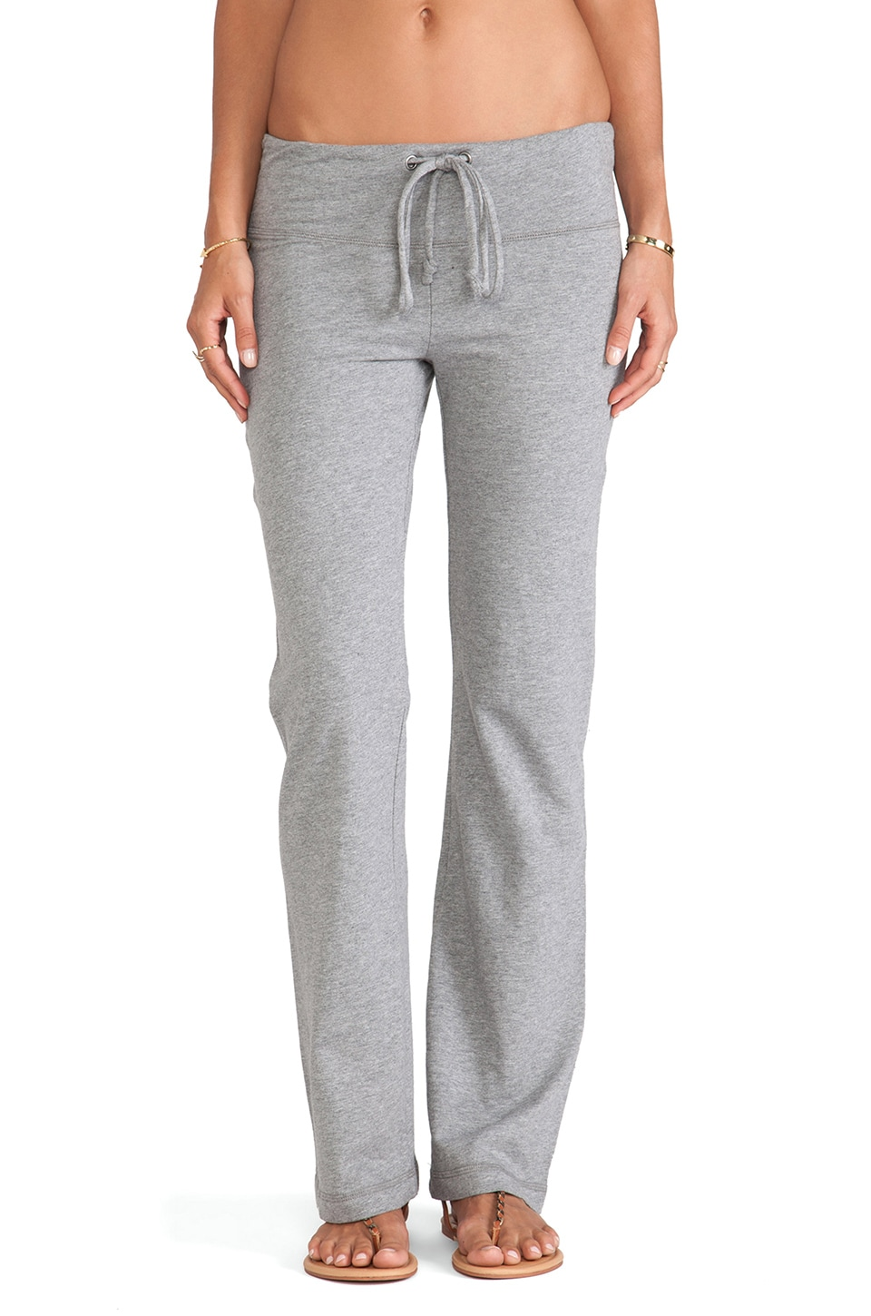 Bobi Wide Leg Sweatpant in Thunder