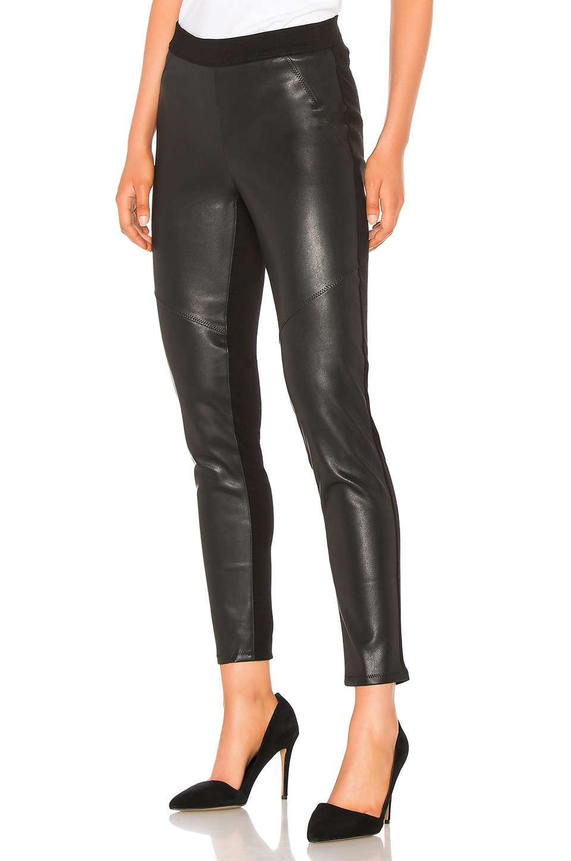 Bobi Vegan Leather Legging in Black