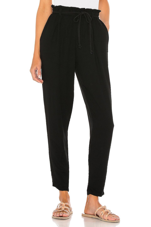 Bobi Beach Crepe Pant in Black