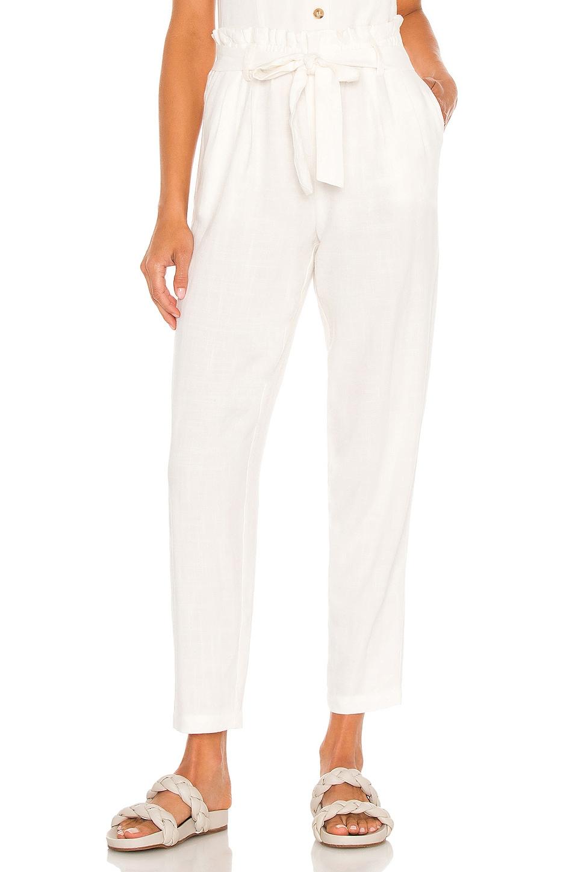White Paperbag Pants