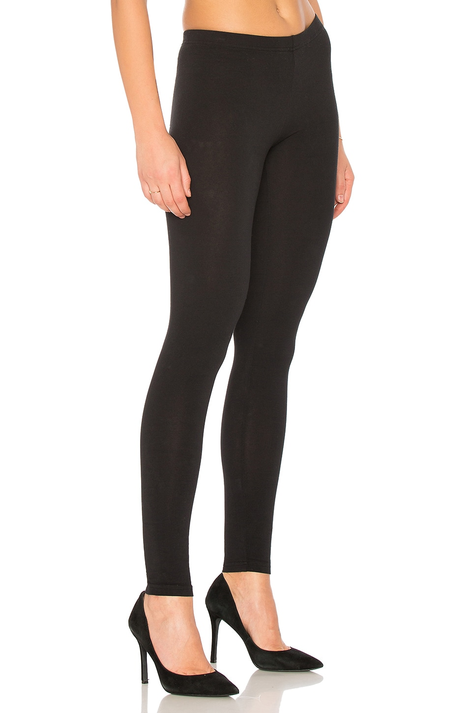 Bobi Cotton Lycra Pants in Black