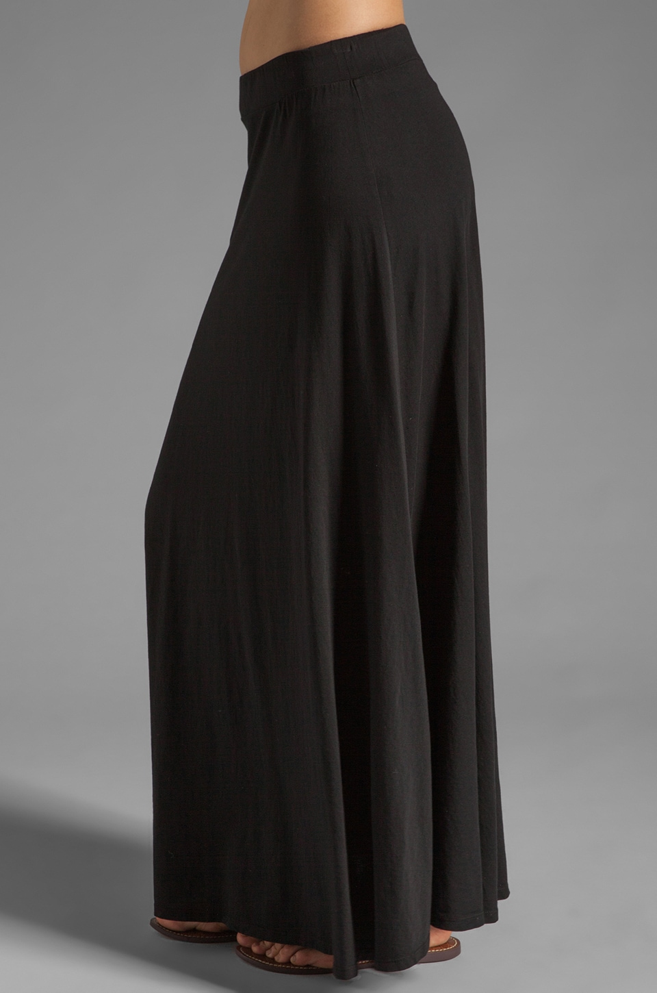 Bobi Supreme Jersey Maxi Skirt in Black