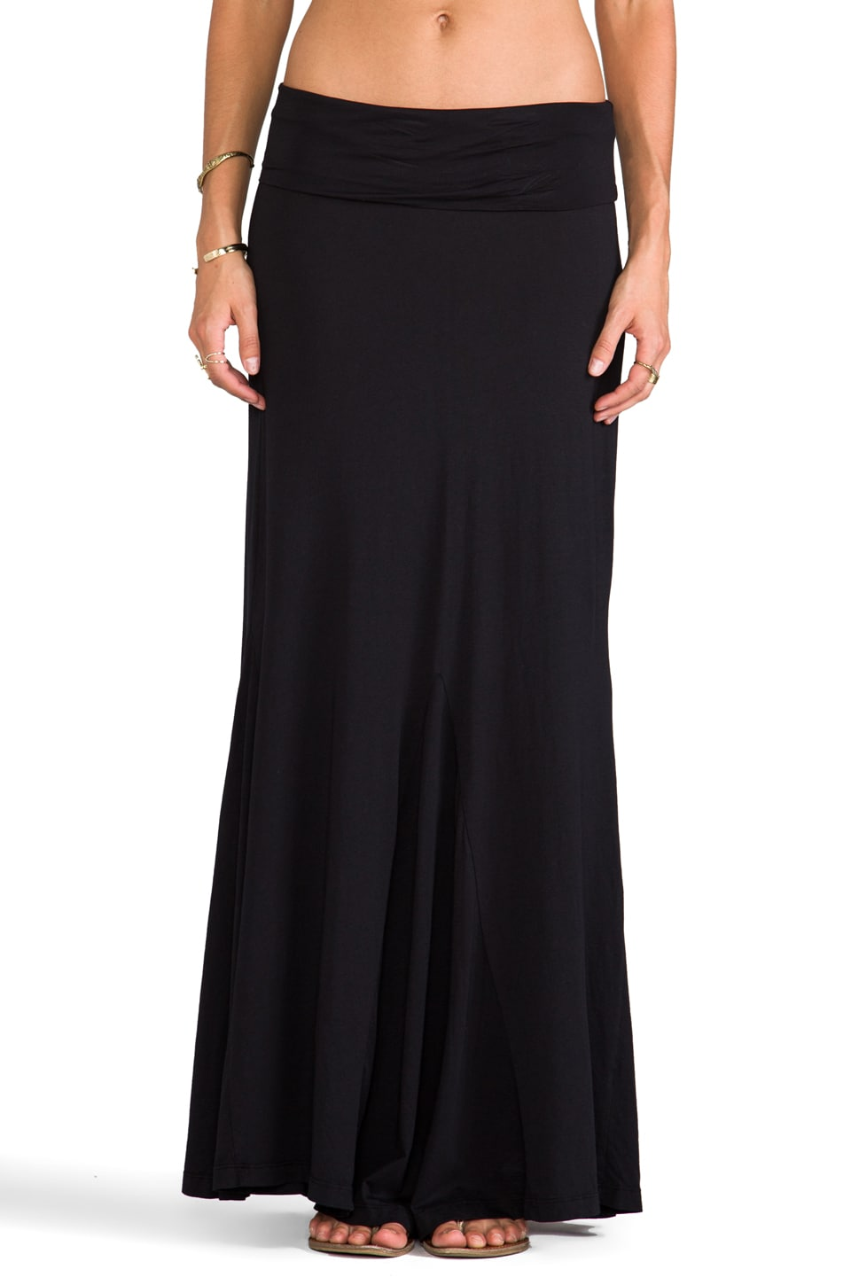 Bobi Maxi Skirt in Black