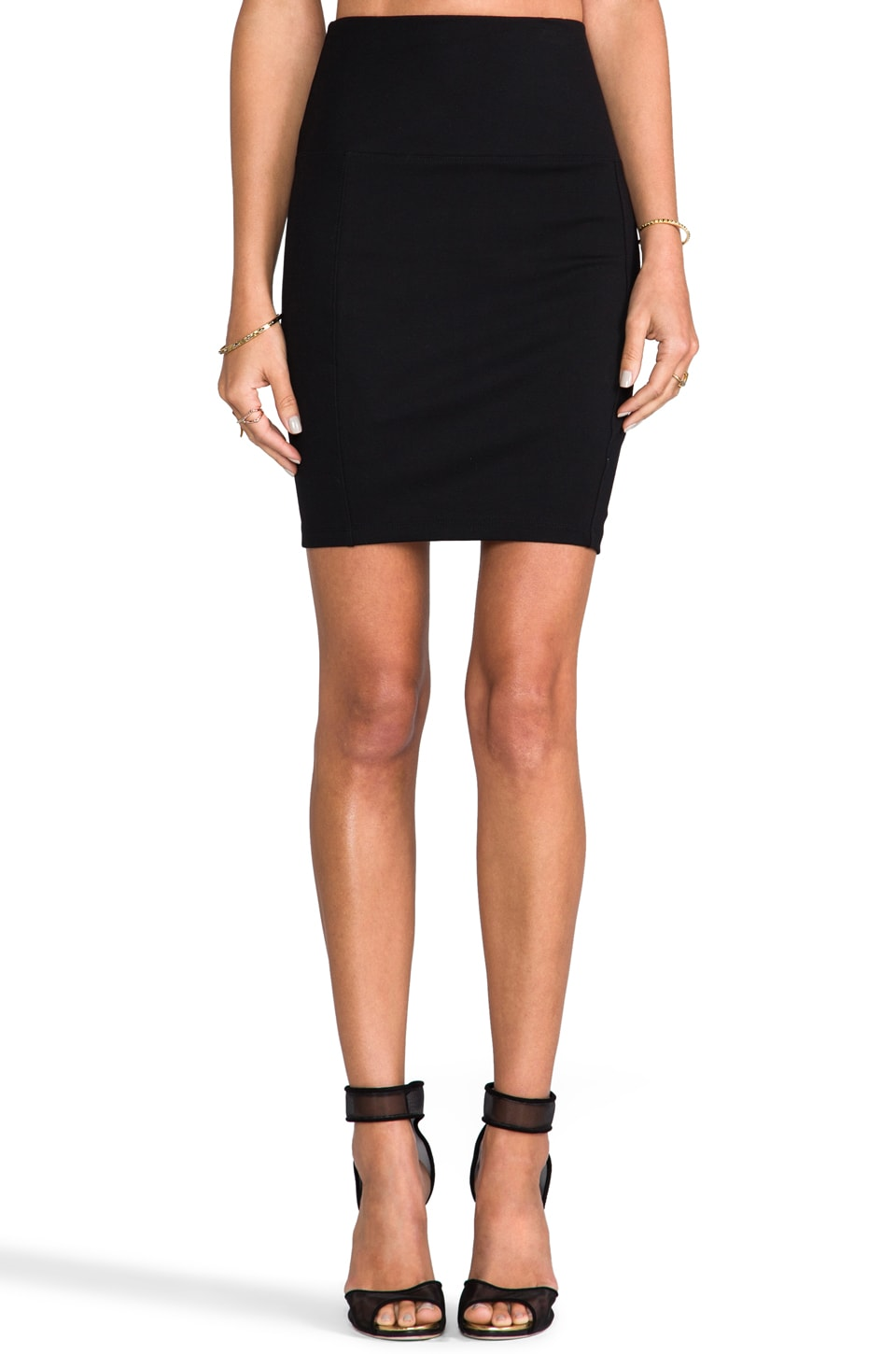 Bobi Ponte Skirt in Black