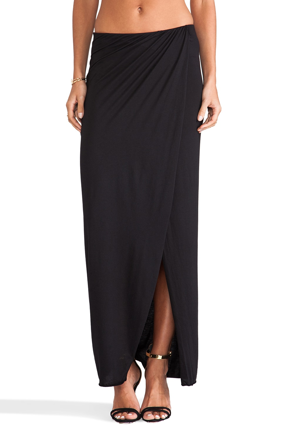 Bobi Jersey Maxi Skirt in Black