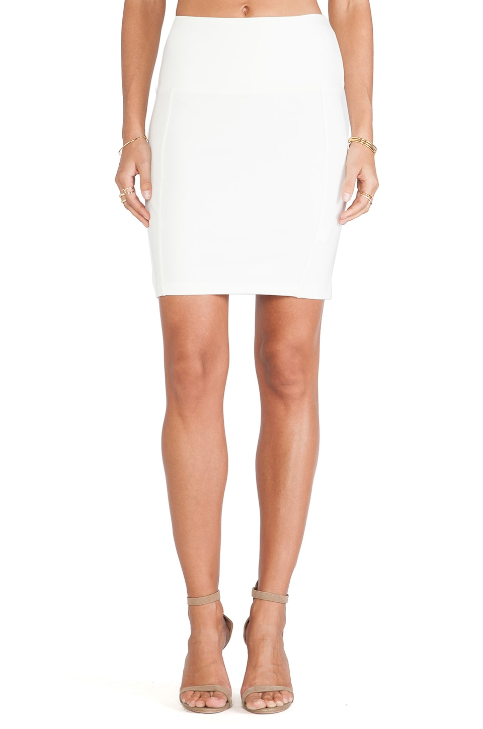 Bobi Ponte Skirt in Light