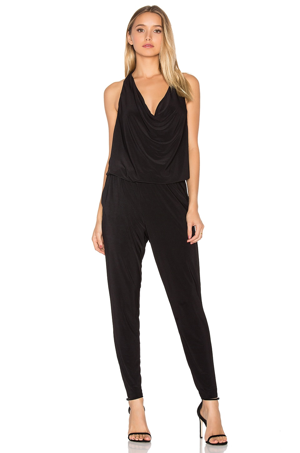 Bobi BLACK Sleeveless Jumpsuit in Black