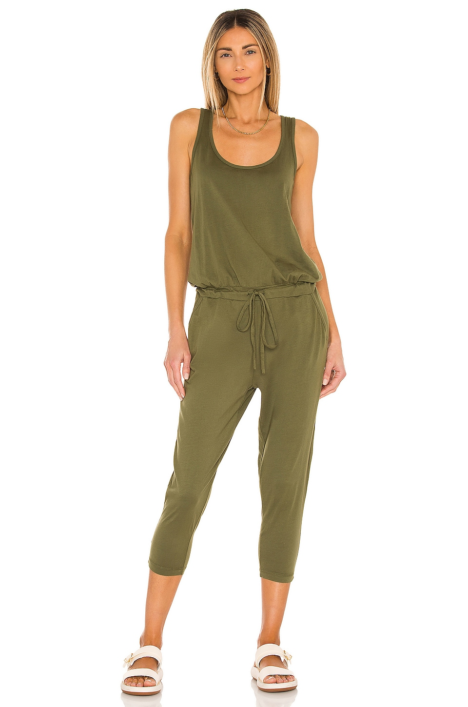 Bobi Supreme Jersey Sleeveless Jumpsuit in Combat