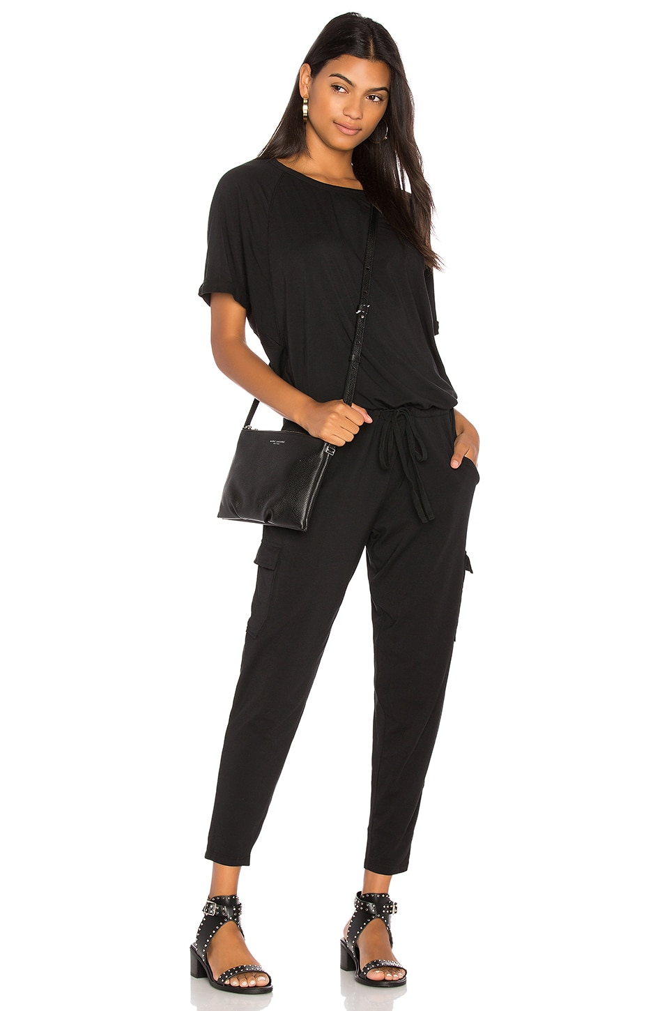 Draped Skinny Jumpsuit by Bobi