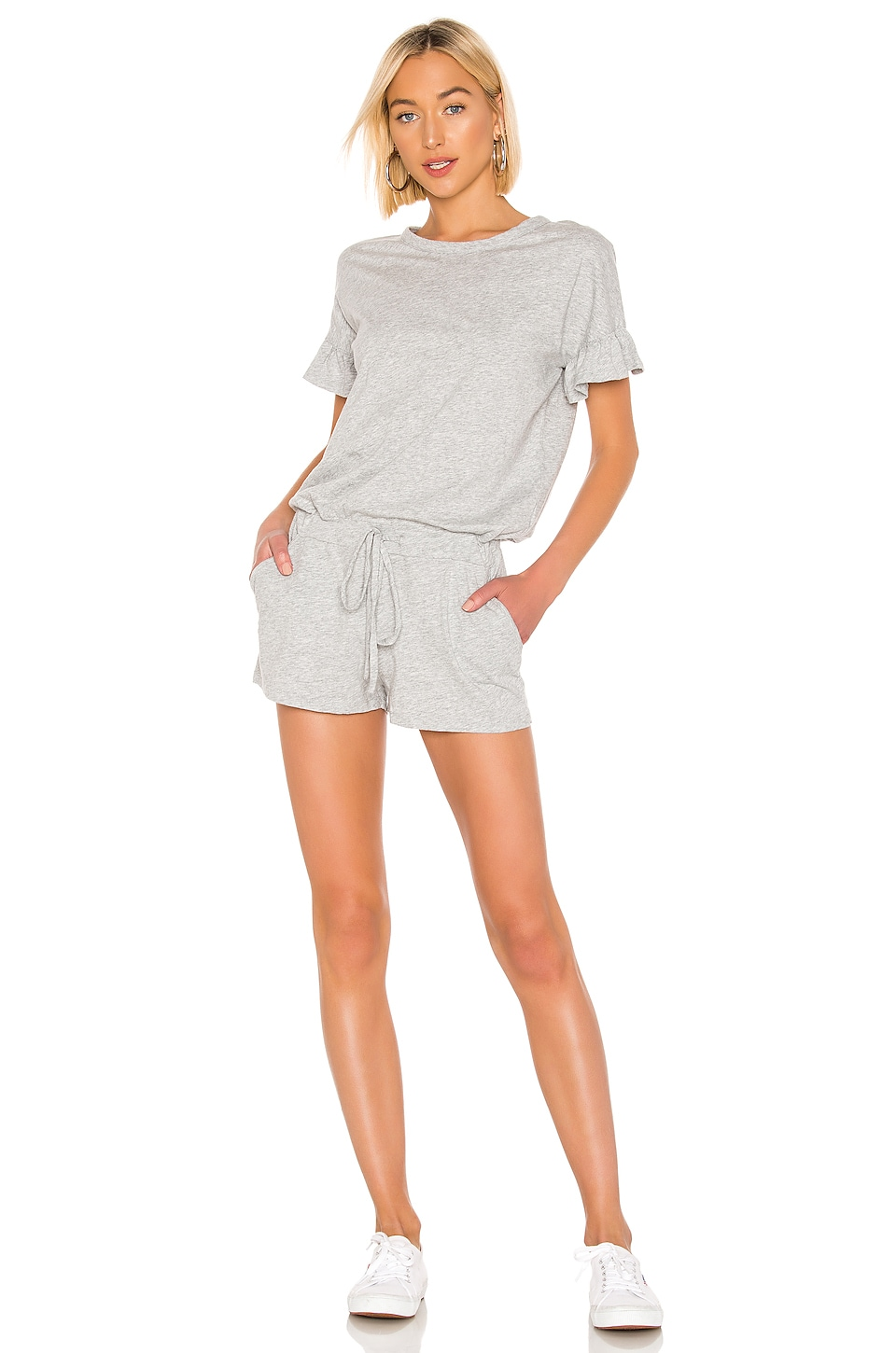 Bobi Supreme Jersey Romper in Heather Grey