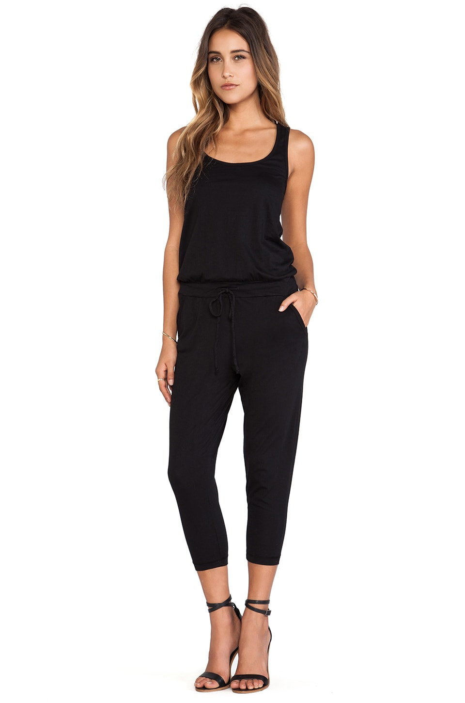 Bobi Supreme Jersey Long Romper in Black
