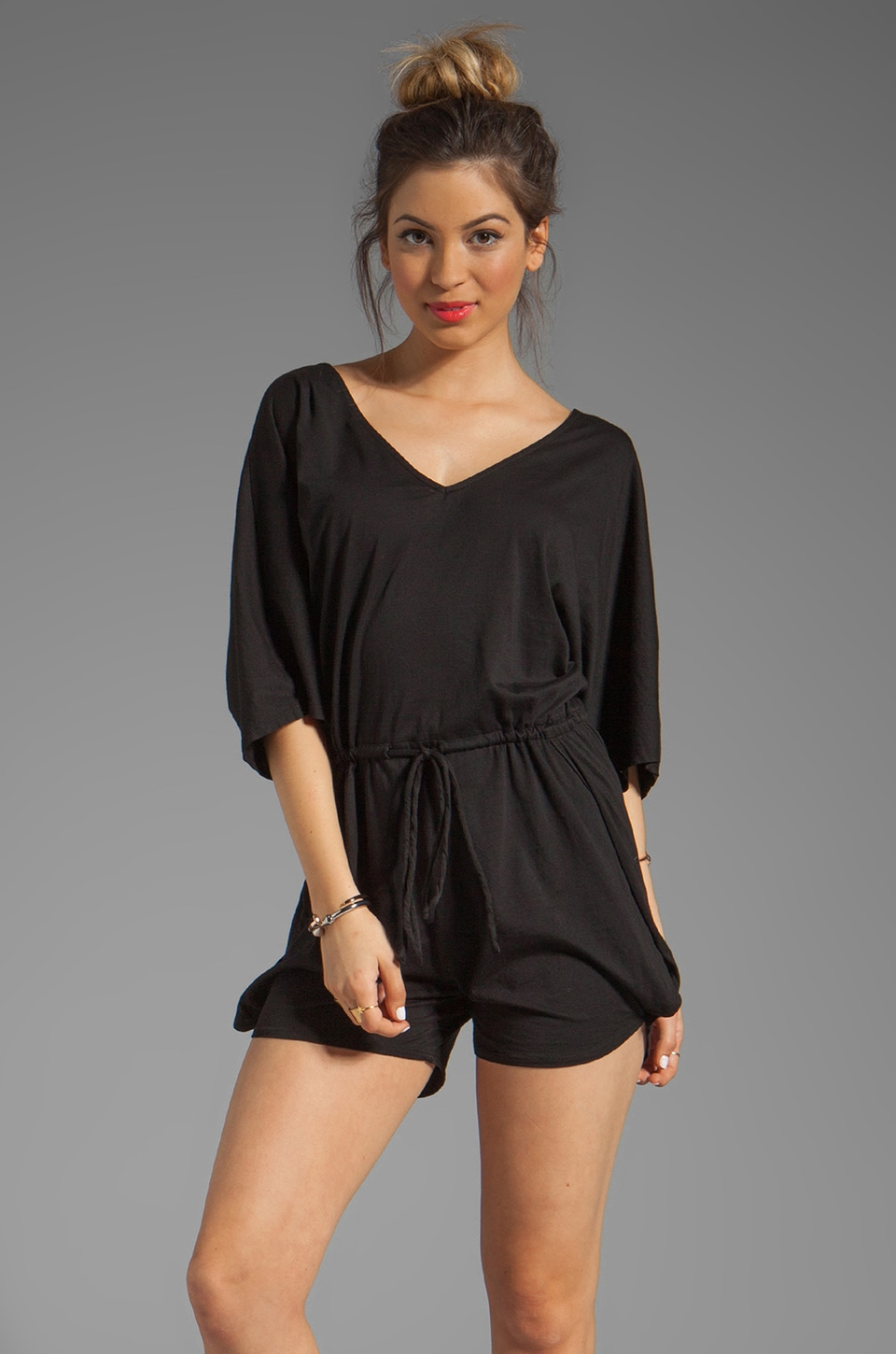Bobi Supreme Jersey Romper in Black