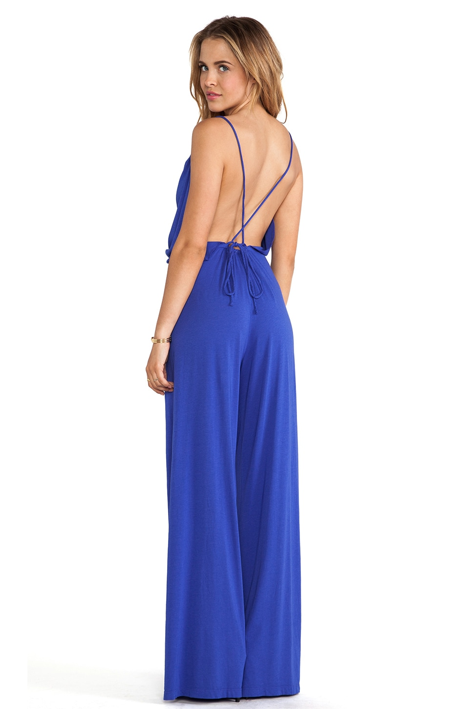 Bobi Modal Jersey Jumpsuit in Ultra Blue