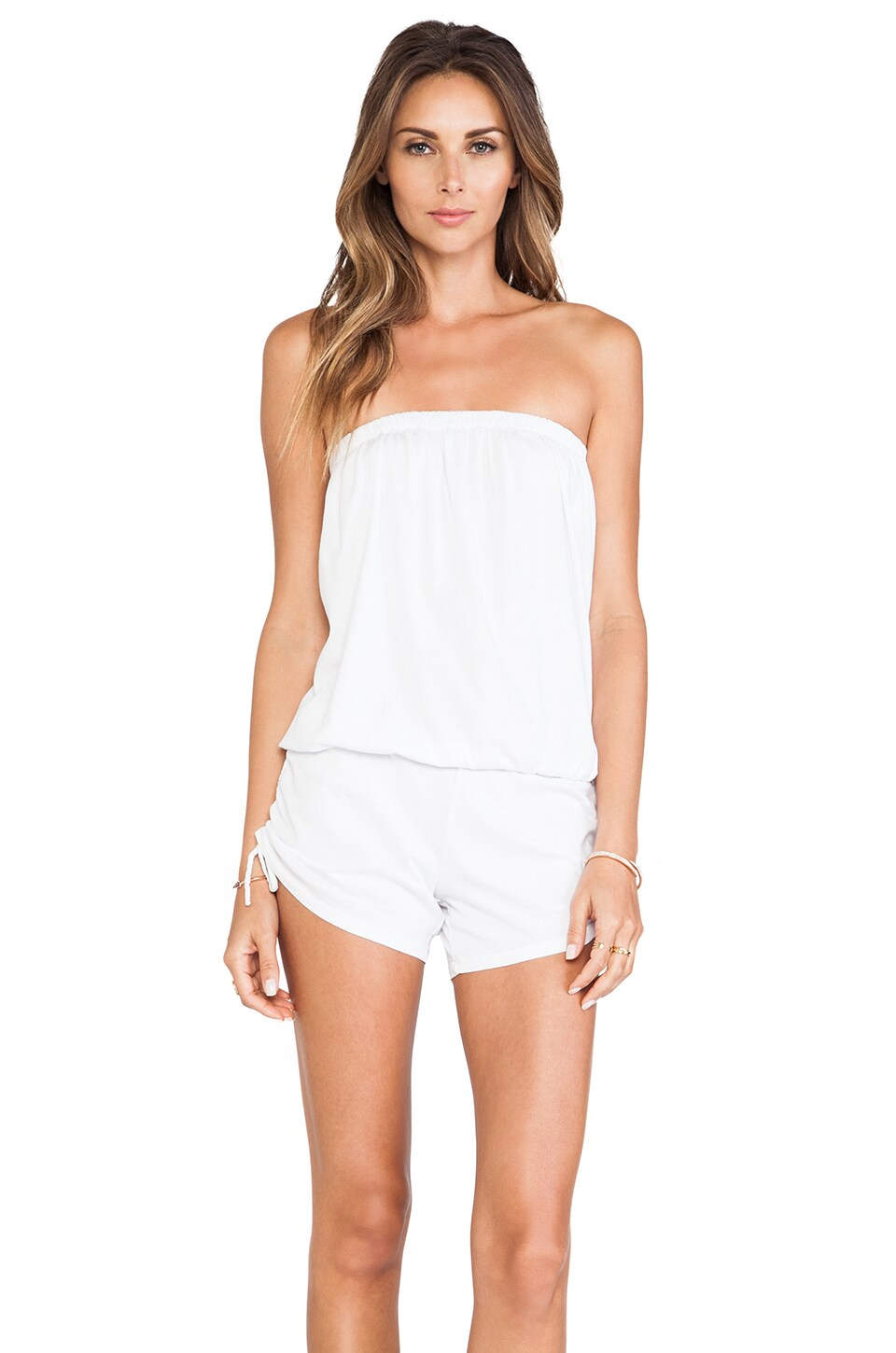Bobi Supreme Jersey Romper in White